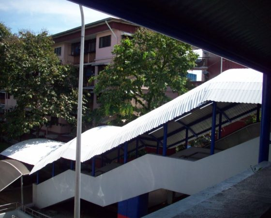 Covered Walkway LRT Sentul used Rolform Curved Sealform Colorbond Roof